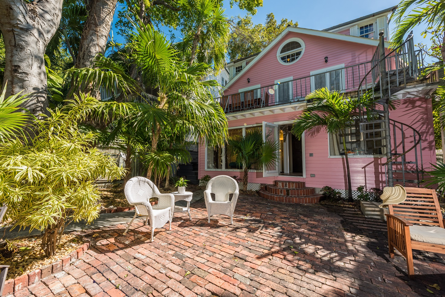 Key West Vacation Home - William Skelton House - Backyard of Home