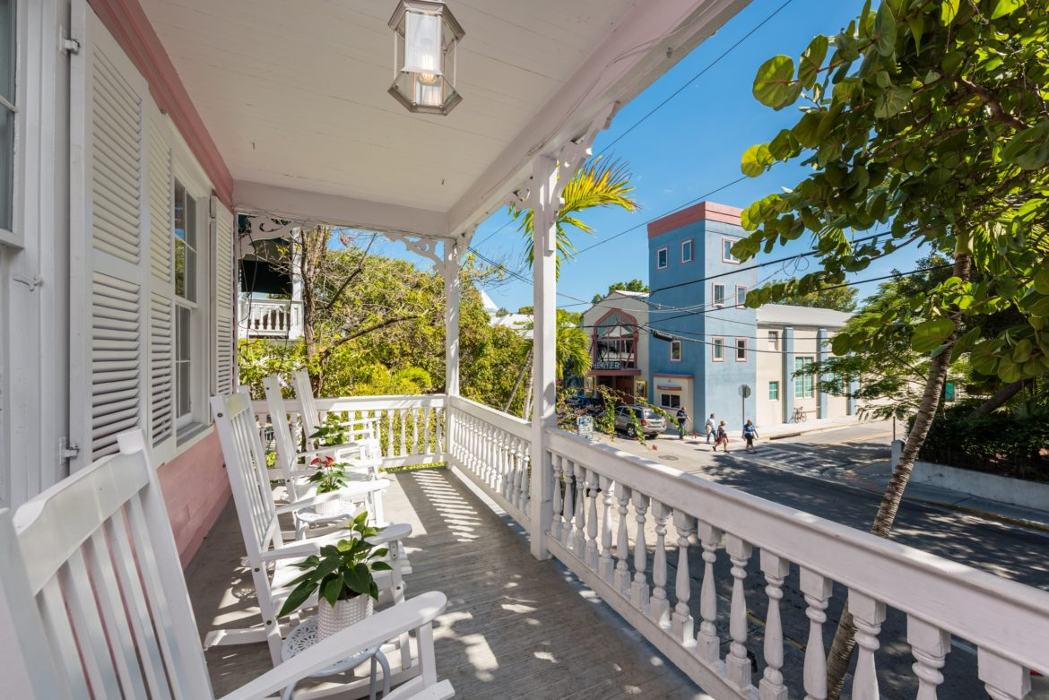 Key West Vacation Home - William Skelton House - Second floor Front Porch