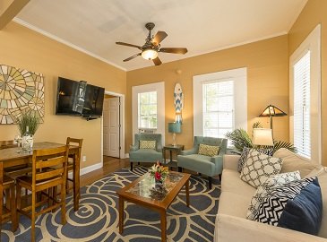 Vacation rental in Key West - Villa Rosa living area