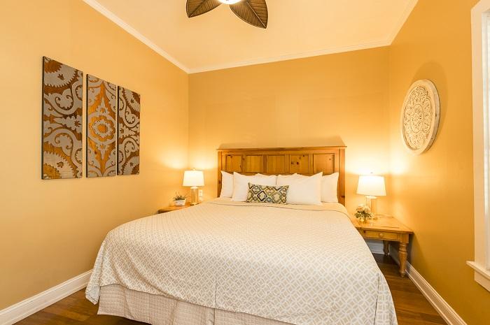Key West Villas - Villa Rosa bedroom Rose Lane Villas
