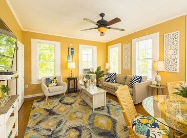 Vacation Rentals Key West - Rose Lane Villas - Villa Alta Living Area