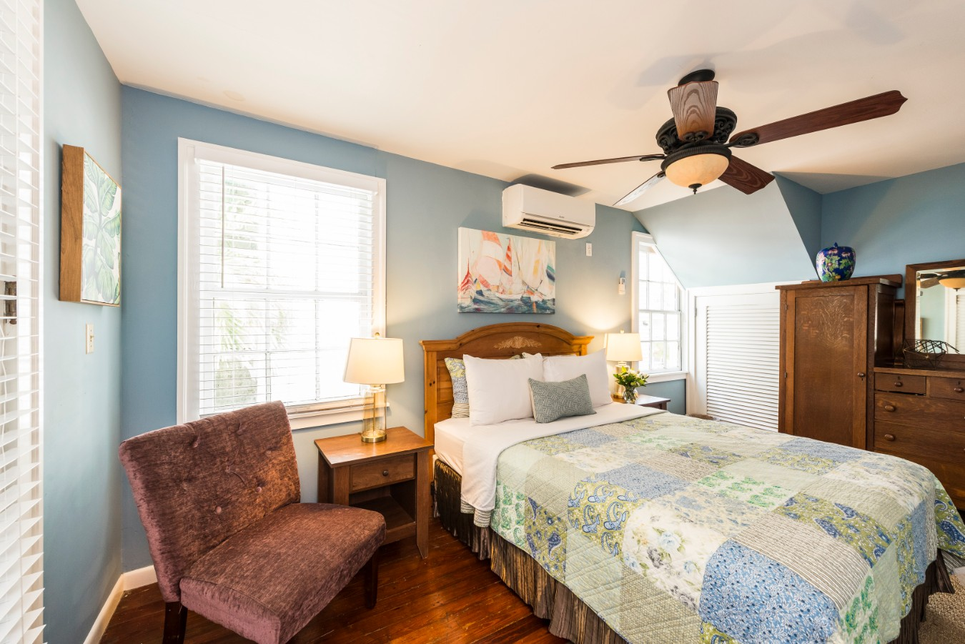 Key West Vacation Rental - William Skelton Home - Second Floor Queen Bedroom
