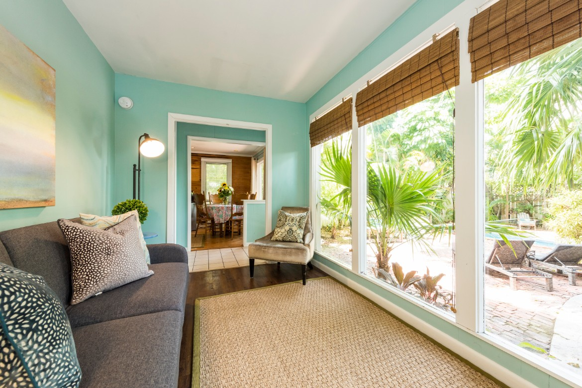 Key West Vacation Home - William Skelton House - Cottage Living Area